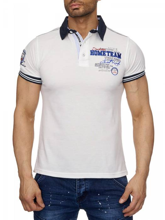 Herren Polo-Shirt | (Slim Fit) Sportliches Polo Kurzarm-Shirt aus Baumwoll-Polyester-Mix, T-Shirt mit Stickereien und klassischem Polo-Kragen | H1490 in Markenqualität – Bild 5