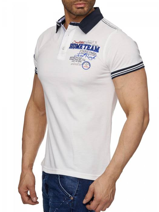 Herren Polo-Shirt | (Slim Fit) Sportliches Polo Kurzarm-Shirt aus Baumwoll-Polyester-Mix, T-Shirt mit Stickereien und klassischem Polo-Kragen | H1490 in Markenqualität – Bild 6