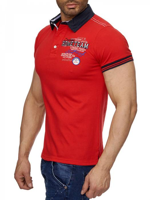 Herren Polo-Shirt | (Slim Fit) Sportliches Polo Kurzarm-Shirt aus Baumwoll-Polyester-Mix, T-Shirt mit Stickereien und klassischem Polo-Kragen | H1490 in Markenqualität – Bild 9