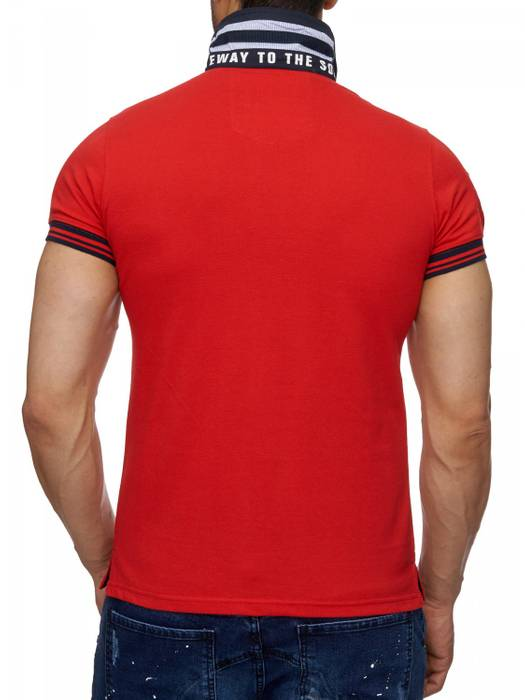 Herren Polo-Shirt | (Slim Fit) Sportliches Polo Kurzarm-Shirt aus Baumwoll-Polyester-Mix, T-Shirt mit Stickereien und klassischem Polo-Kragen | H1490 in Markenqualität – Bild 10