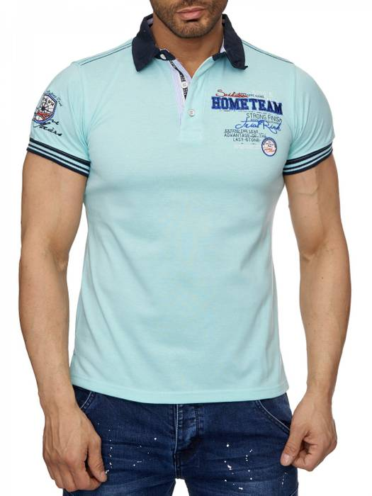 Herren Polo-Shirt | (Slim Fit) Sportliches Polo Kurzarm-Shirt aus Baumwoll-Polyester-Mix, T-Shirt mit Stickereien und klassischem Polo-Kragen | H1490 in Markenqualität – Bild 11