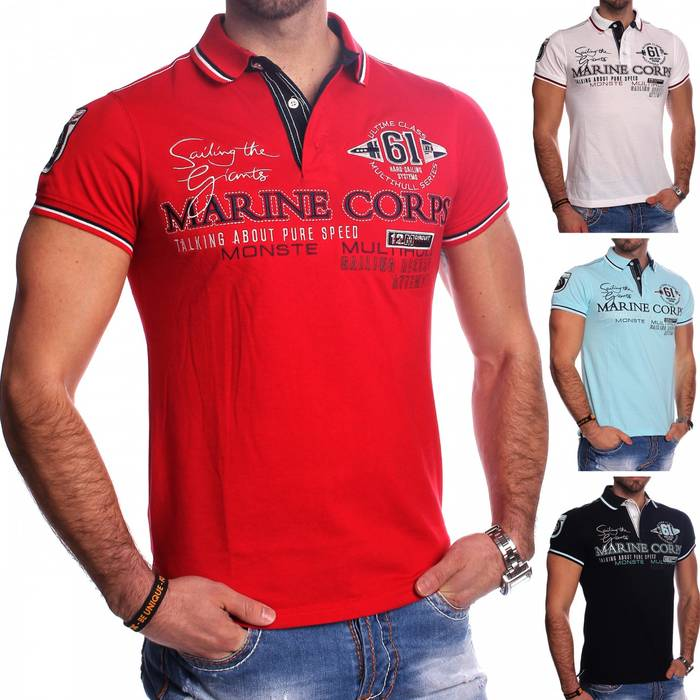 Herren Polo-Shirt | (Regular Fit) Sportliches Polo Kurzarm-Shirt aus Baumwoll-Polyester-Mix, T-Shirt mit Stickereien und klassischem Polo-Kragen | H1491 in Markenqualität – Bild 1