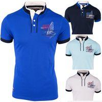 Herren Polo-Shirt   Regular Fit · Sportliches Polo Kurzarm-Shirt · Baumwoll-Polyester-Mix T-Shirt mit detailreicher Stickerei · Stehkragen mit Kontrast-Innenseite   H1492 in Markenqualität