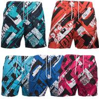 Max Men Badehose Shorts Sport Schwimmhose Muster 1500 001