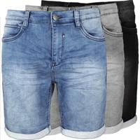 Urban Surface Herren Jeans Shorts Denim Bermuda Kurze Hose Stretch Walkshort H1501