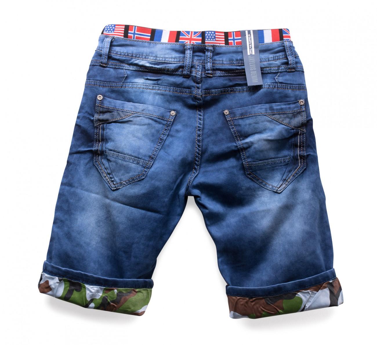 herren kurze hose dehnbar shorts stretch jeansshorts flagg denim ebay. Black Bedroom Furniture Sets. Home Design Ideas