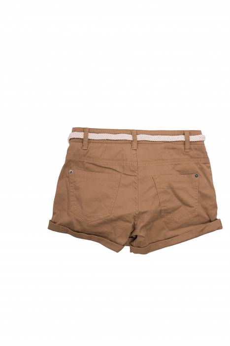 Damen Shorts Kurze Chino Jeans Bermuda Hose Hotpants Gürtel D1527 – Bild 11