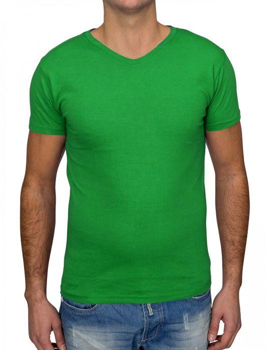 Herren T Shirt Basic O-Neck Einfarbig Uni V-Neck H1530 – Bild 11