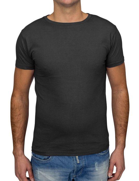 Herren T Shirt Basic O-Neck Einfarbig Uni V-Neck H1530 – Bild 7