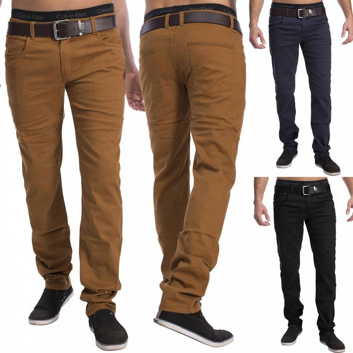 Herren 5-Pocket Chino Decatur H1534 Slim Fit – Bild 1