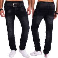 One Public Herren Jeans Hose Slim Fit Stretch Used Waschung H1557