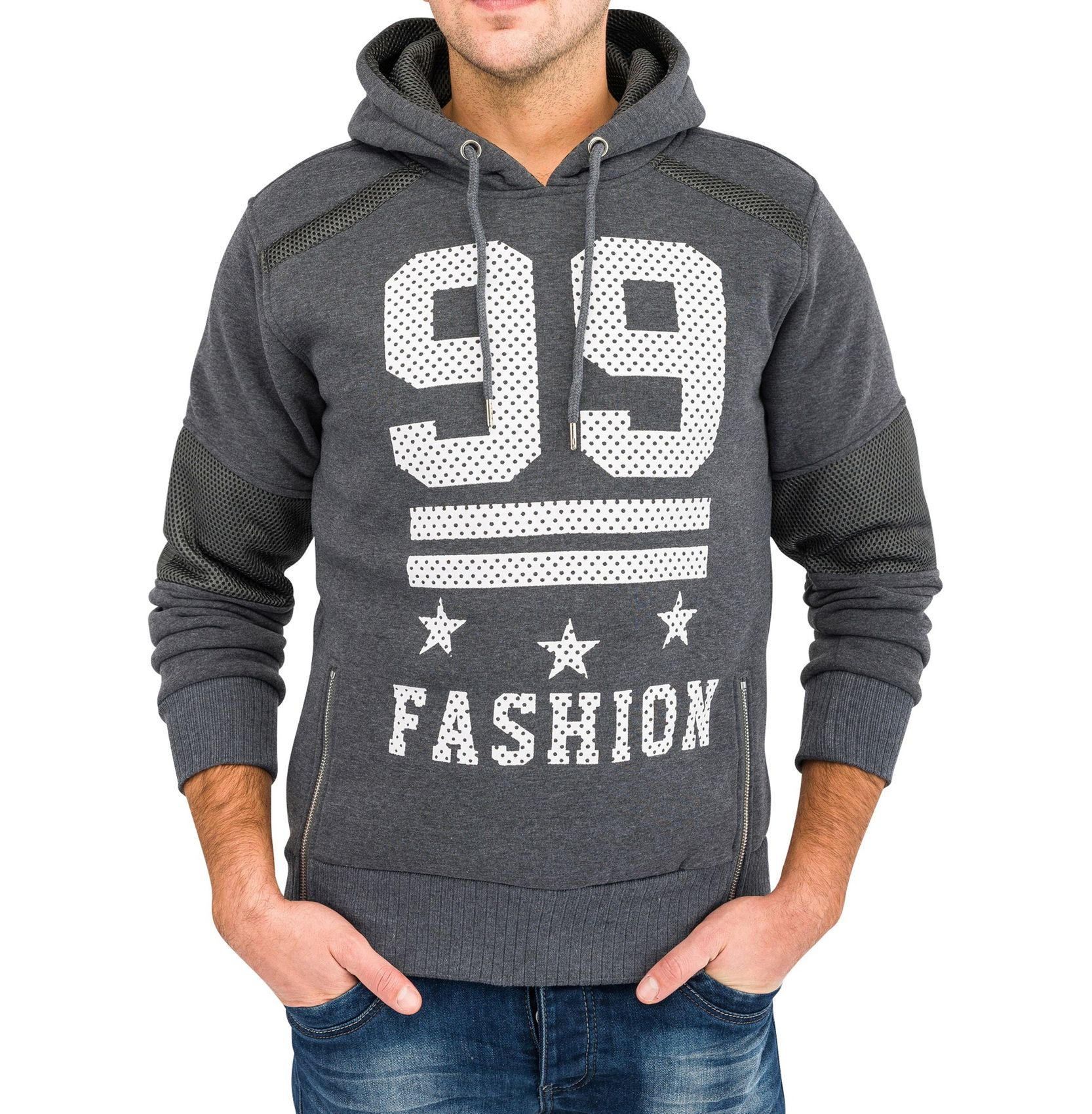 herren kapuzenpullover print trend pullover fashion hoodie aufdruck pulli punkte ebay. Black Bedroom Furniture Sets. Home Design Ideas