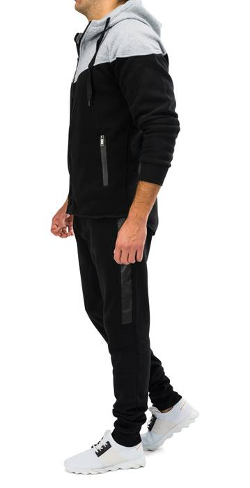 Herren Zip Jogginganzug Trainingsanzug STRENGTH Nr.1576 – Bild 3