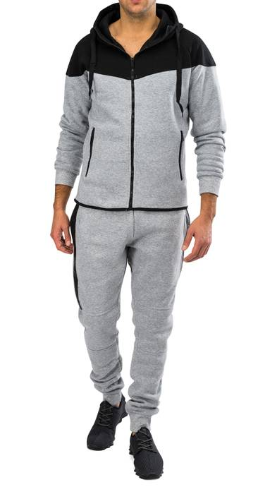 Herren Zip Jogginganzug Trainingsanzug STRENGTH Nr.1576 – Bild 9