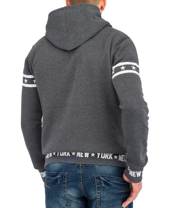 Herren Hoodie   (Comfort Fit/Regular Fit) Kapuzen-Pullover mit New York Print   H1591 in Markenqualität – Bild 11