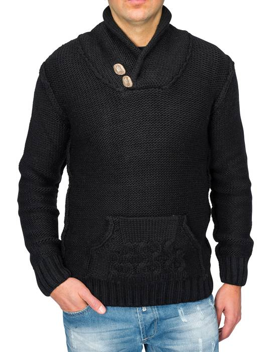 Herren Strick-Pullover | Regular Fit · Cardigan · Strick Jacke mit Funnel-Neck · Grobstrick · Knebel Verschluss · Knöpfe in Holz-Optik · Norweger Style | H1671 in Markenqualität – Bild 2