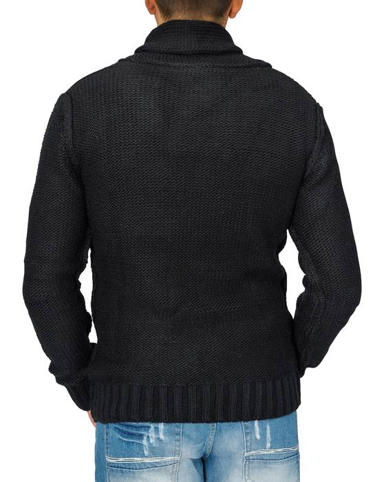 Herren Strick-Pullover | Regular Fit · Cardigan · Strick Jacke mit Funnel-Neck · Grobstrick · Knebel Verschluss · Knöpfe in Holz-Optik · Norweger Style | H1671 in Markenqualität – Bild 3