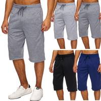 Herren Sweat Shorts Kurze Basic Capri Hose Jogging Bermuda H1716