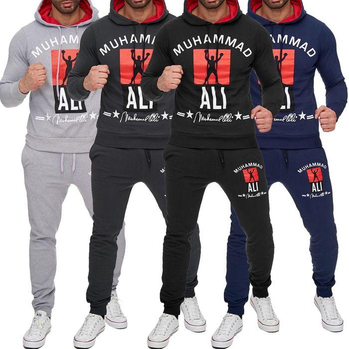 Herren Trainingsanzug Zweiteiler Jogginganzug Muhammad Ali H1718 – Bild 1