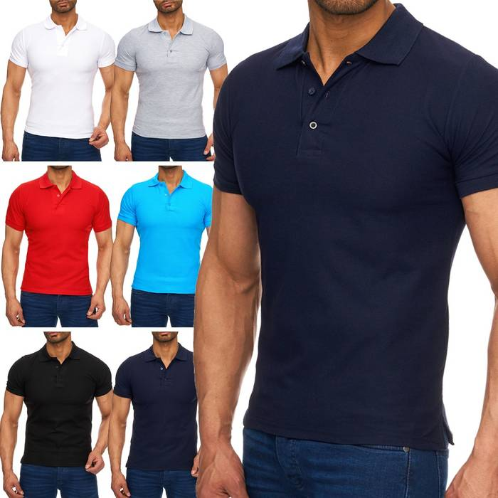 Herren Polo-Shirt | (Regular Fit) Basic Kurzarm Polo Shirt, einfarbiges T-Shirt, elegantes Sweatshirt mit Kragen, Casual | H1719 in Markenqualität – Bild 1