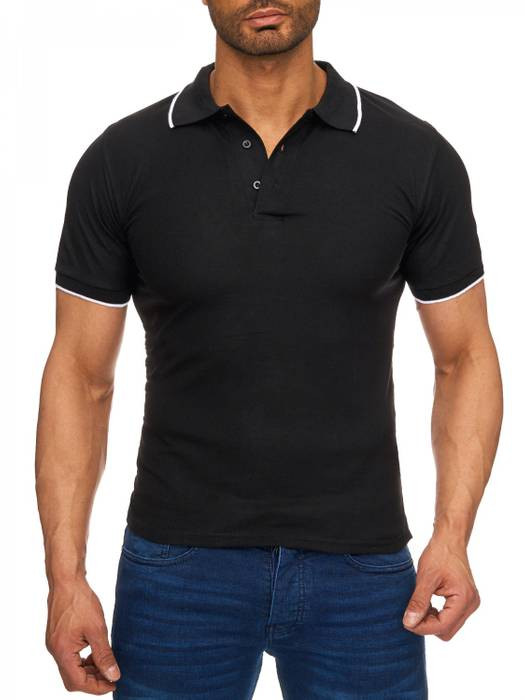 Herren Polo-Shirt | (Regular Fit) Kurzarm Basic Polo Shirt, einfarbiges T-Shirt, elegantes Sweatshirt mit Kragen, Casual | H1720 in Markenqualität – Bild 8