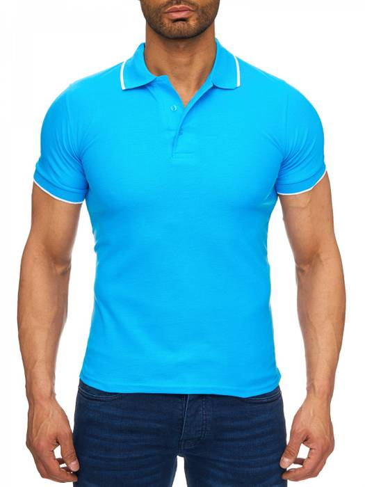 Herren Polo-Shirt | (Regular Fit) Kurzarm Basic Polo Shirt, einfarbiges T-Shirt, elegantes Sweatshirt mit Kragen, Casual | H1720 in Markenqualität – Bild 2