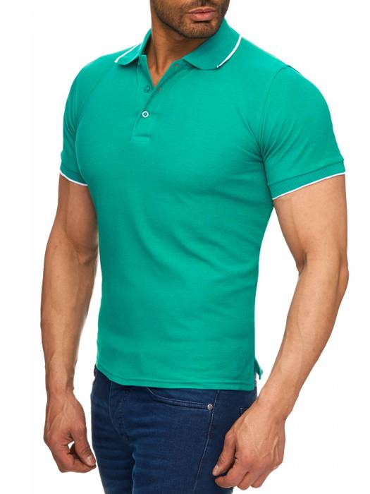 Herren Polo-Shirt | (Regular Fit) Kurzarm Basic Polo Shirt, einfarbiges T-Shirt, elegantes Sweatshirt mit Kragen, Casual | H1720 in Markenqualität – Bild 18