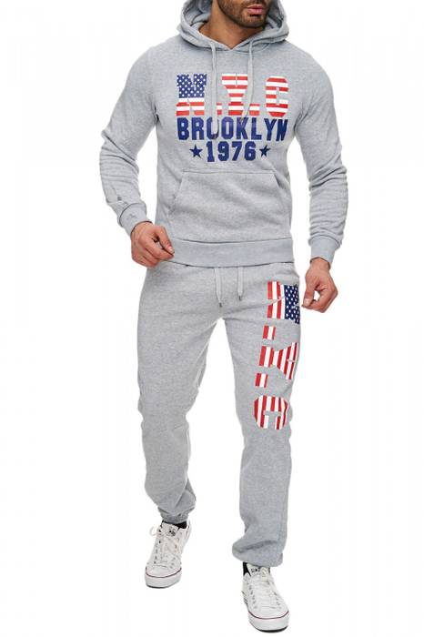 Herren Soft Touch Jogginganzug Brooklyn H1724 – Bild 2