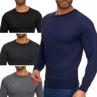Max Men Herren Pullover Sweatshirt Feinstrick Longsleeve Sweater H1727