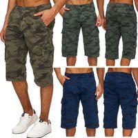 Herren Cargo Shorts Bermuda Hose Camouflage H1738