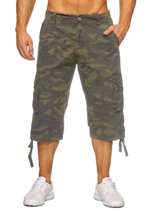 Herren Cargo Shorts Bermuda Freizeit Kurze Camouflage Hose H1739 – Bild 2