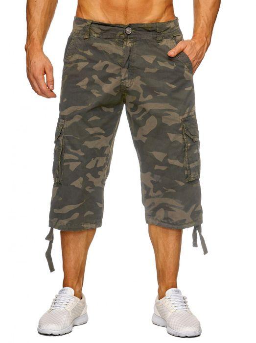 Herren Cargo Shorts Bermuda Freizeit Kurze Camouflage Hose H1739 – Bild 5