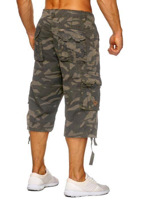Herren Cargo Shorts Bermuda Freizeit Kurze Camouflage Hose H1739 – Bild 6