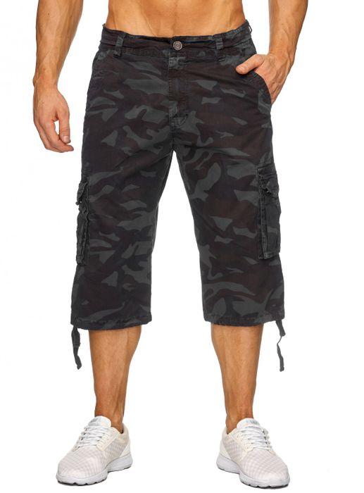 Herren Cargo Shorts Bermuda Freizeit Kurze Camouflage Hose H1739 – Bild 8