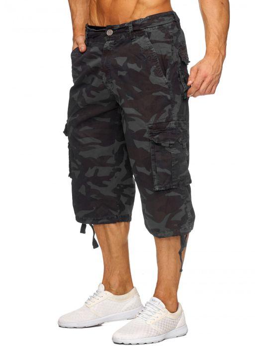 Herren Cargo Shorts Bermuda Freizeit Kurze Camouflage Hose H1739 – Bild 7