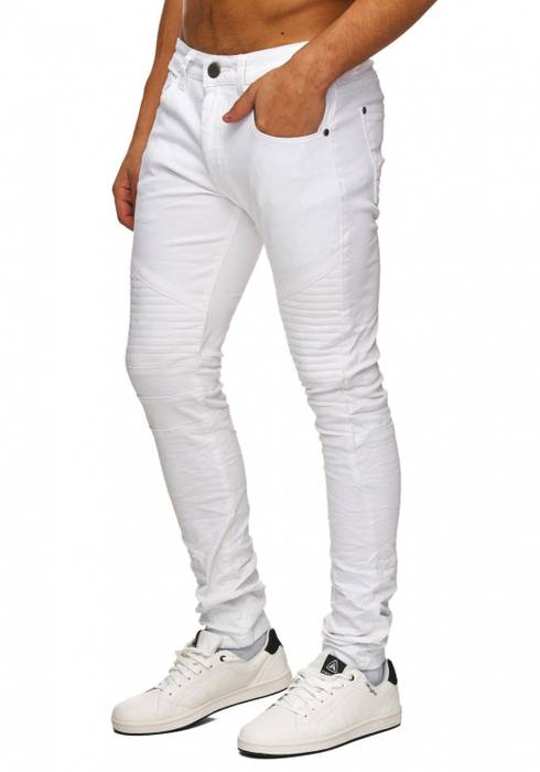Herren Jeans | (Slim Fit) Leichte Sommer Hose Biker Look, hoher Baumwollanteil mit Stretch und geradem Bein (Straight Leg) | H1747 in Markenqualität – Bild 15