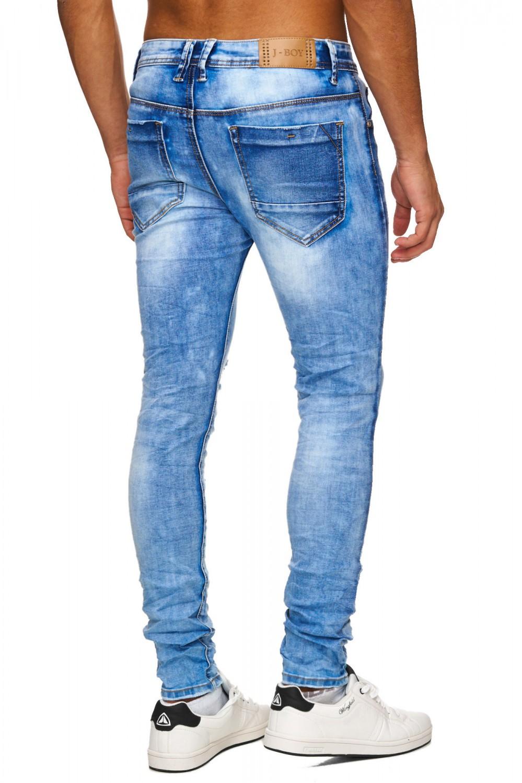 herren jeans destroyed denim zerrissen cout out ripped. Black Bedroom Furniture Sets. Home Design Ideas