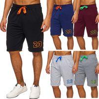 Herren Sweat-Shorts | (Relaxed Fit) Sportliche Capri, kurze Sweat Pant für den Sommer, Bermuda Hose mit Print und Tunnelzug | H1758 in Markenqualität