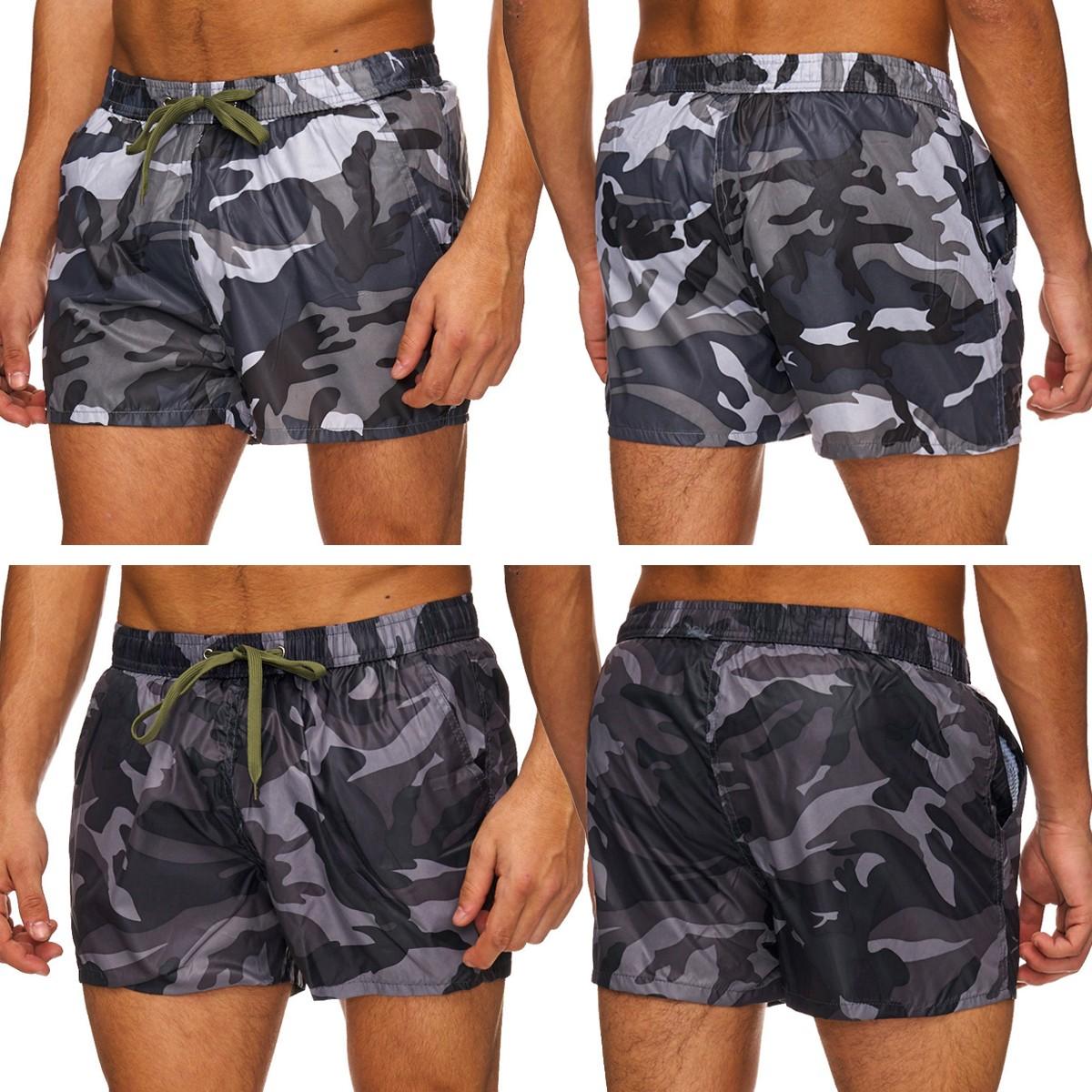 ddc3d5706a76fc Herren Camouflage Badeshorts Beachwear Schwimmhose Shorts Badehose Army  Sport AS - Nr 1763
