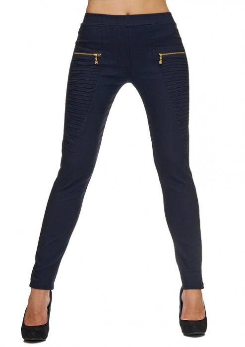 Damen Treggings | (Slim Fit) Stretch-Hose im Biker-Look mit Ziernähten und leichtem Shaping-Effekt, Regular Waist | D1782 in Markenqualität – Bild 3