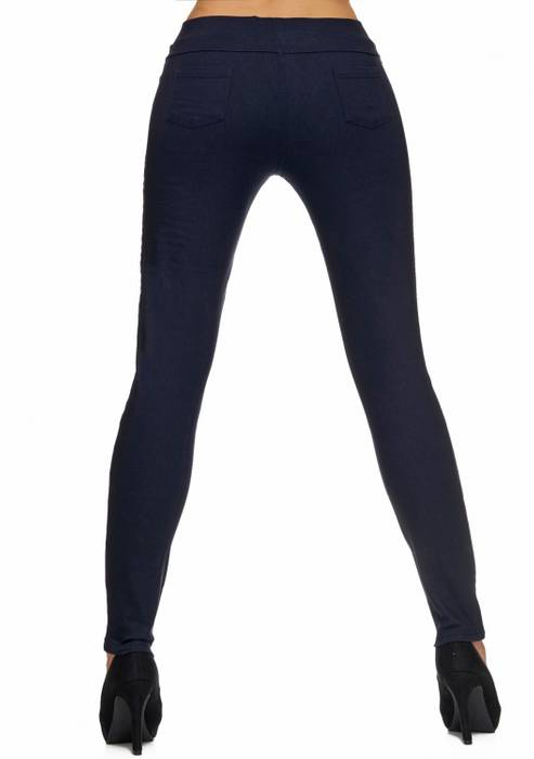 Damen Treggings | (Slim Fit) Stretch-Hose im Biker-Look mit Ziernähten und leichtem Shaping-Effekt, Regular Waist | D1782 in Markenqualität – Bild 5