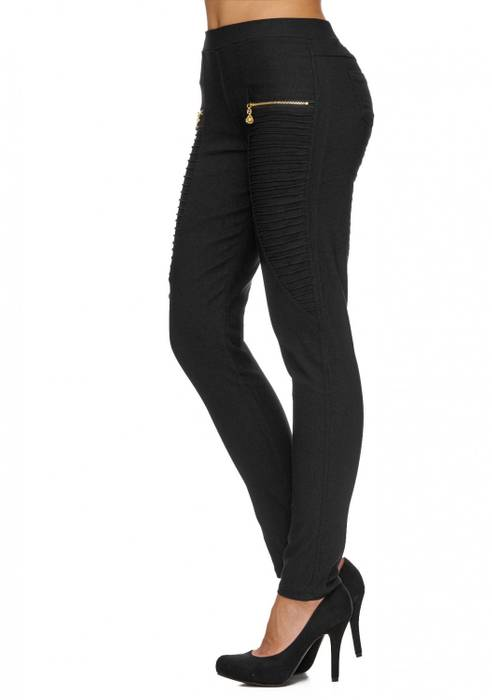 Damen Treggings | (Slim Fit) Stretch-Hose im Biker-Look mit Ziernähten und leichtem Shaping-Effekt, Regular Waist | D1782 in Markenqualität – Bild 10