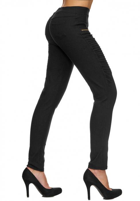 Damen Treggings | (Slim Fit) Stretch-Hose im Biker-Look mit Ziernähten und leichtem Shaping-Effekt, Regular Waist | D1782 in Markenqualität – Bild 12