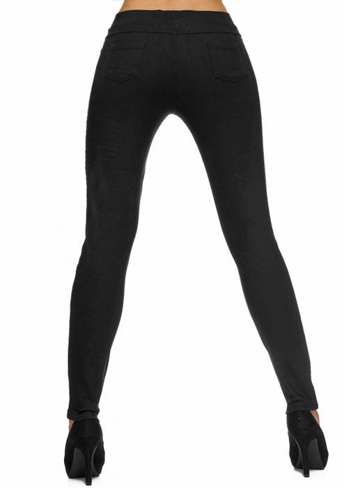 Damen Treggings | (Slim Fit) Stretch-Hose im Biker-Look mit Ziernähten und leichtem Shaping-Effekt, Regular Waist | D1782 in Markenqualität – Bild 13