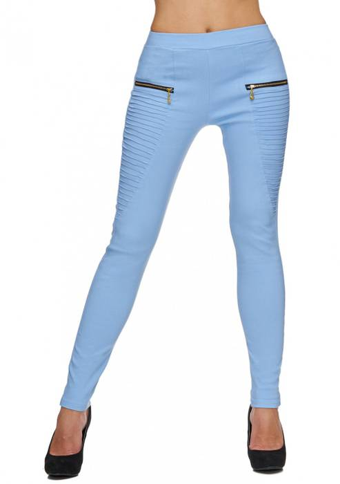 Damen Treggings | (Slim Fit) Stretch-Hose im Biker-Look mit Ziernähten und leichtem Shaping-Effekt, Regular Waist | D1782 in Markenqualität – Bild 23
