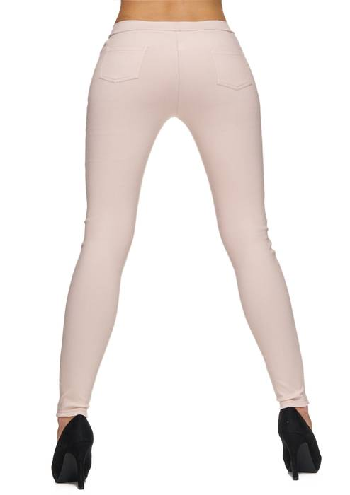 Damen Treggings Basic Hose Jeggings Jeans Hüfthose D1783 – Bild 7