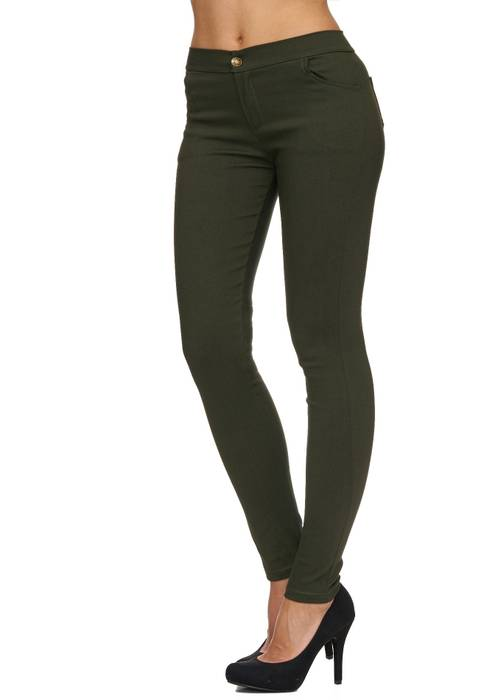 Damen Treggings Basic Hose Jeggings Jeans Hüfthose D1783 – Bild 18