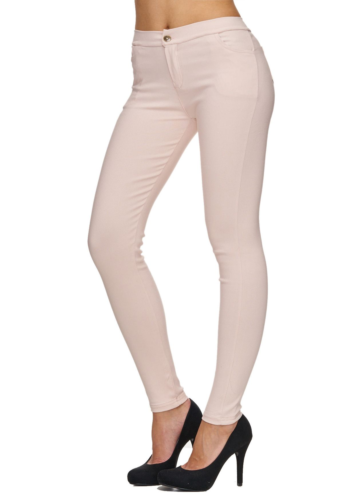 c3b4236efe Delgado mujeres cintura alta pantalones vaqueros talle alto jeans ajustados