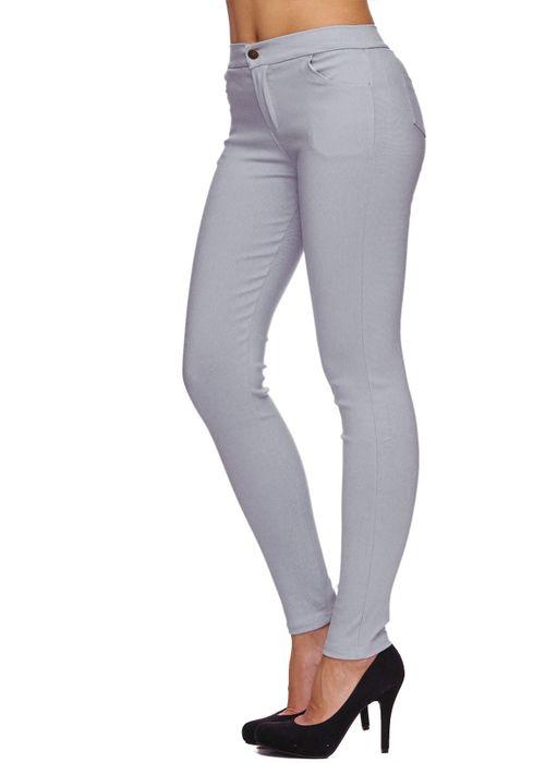 Damen Treggings Basic Hose Jeggings Jeans Hüfthose D1783 – Bild 3
