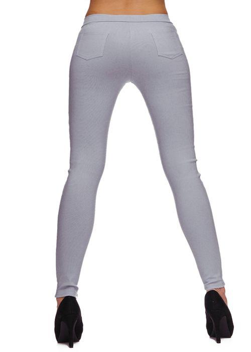 Damen Treggings Basic Hose Jeggings Jeans Hüfthose D1783 – Bild 4